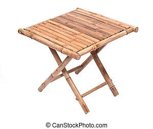 naturale, bambù, piegando tavola