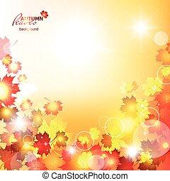 naturale, illustrazione, fondo, vettore, autunno, bello