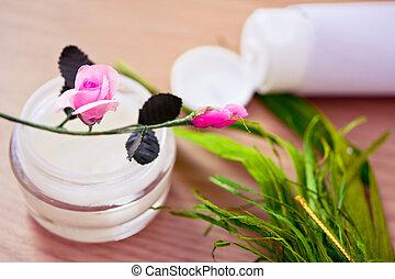 naturale, organico, bellezza, lotion/moisturizer