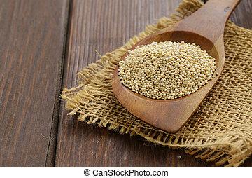 naturale, organico, cereale, quinoa