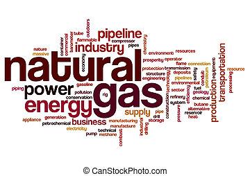 naturale, parola, gas, nuvola