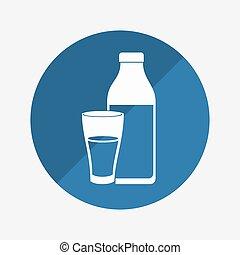 naturale, prodotto, disegno, latte