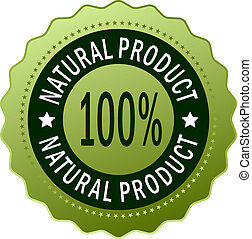 naturale, prodotto, icona
