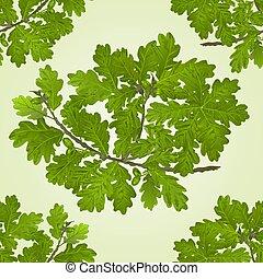 naturale, ramo, quercia, ghiande, seamless, struttura, vector.eps, fondo