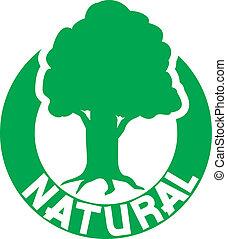 naturale, simbolo, di, albero