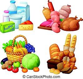 naturale, supermercato, cibo, serie