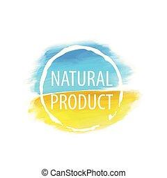 naturale, testo, illustrazione, segno, vettore, product.