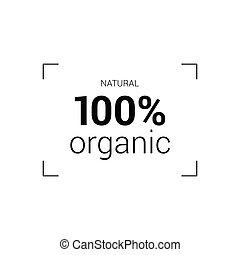 naturale, vettore, organico, icona