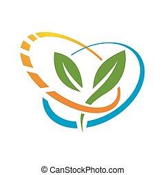 naturale, vettore, vitamina, logotipo, disegno, supplementi, nutrizione, salute, icona