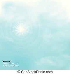 naturaleza, de, nubes, conjunto, en, cielo azul, patrón, backgroud.