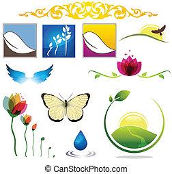 naturaleza, iconos