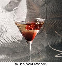 naturaleza muerta, de, martini.