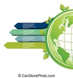 naturaleza, planeta, ecología, cuidado, icono