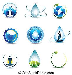 naturaleza, y, asistencia médica, símbolos