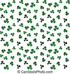 Naturalistic colorful Seamless pattern of green clover. Vector Illustration.