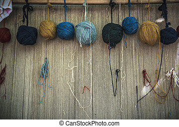 Naturally dyed yarn used for hand weaving
