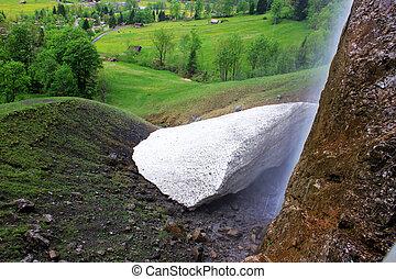Naturally formed Calcium carbonate in Switzerland
