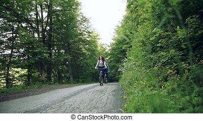 nature., électrique, équitation, voyageurs, touriste,...