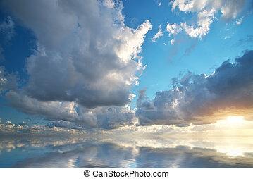 nature., 空, 背景