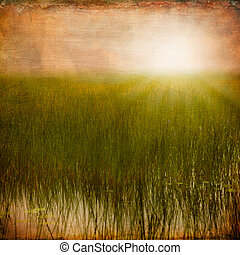 Nature Abstract - Vintage style nature background