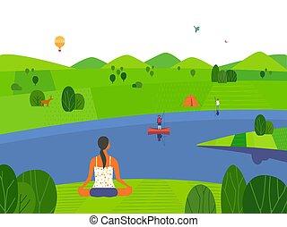 nature, activité, loisir, dehors