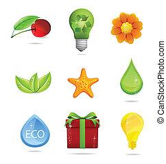 nature and eco symbols big set
