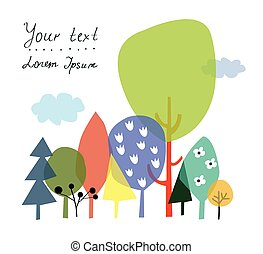 Nature and forest background for the presentation or card with copyspace