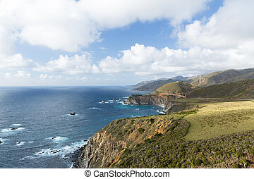 beautiful view of big sur coast in california