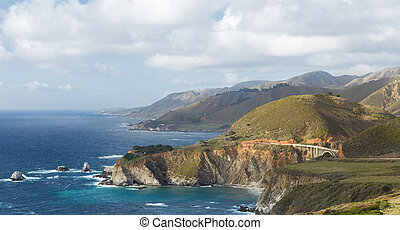 beautiful view of big sur coast in california