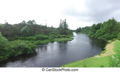 view to river in ireland valley - nature and landscape...