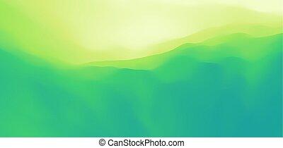 nature, arrière-plan., vert, illustration., montagneux,...