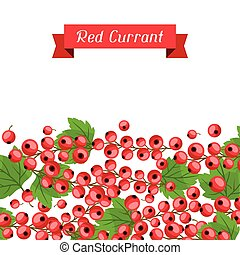 Nature background design with red currants. - Nature...