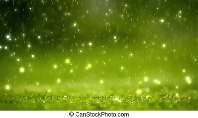 Nature background. Green bokeh