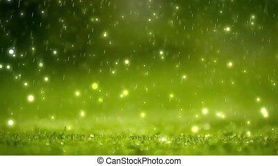 Nature background. Green bokeh