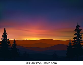 Nature background of mountains panorama.