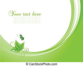 Nature background with bu - Nature themed background with...