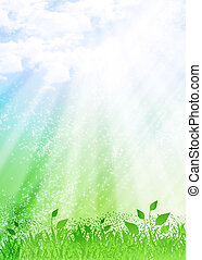 Nature background with clouds - A beautiful nature...