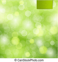 Nature Background With Label,  Vector Illustration
