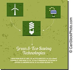 Nature banner, ecology poster with text for presentation, quotes. Eco organic labels and cards. Green technologies concept. Vector.