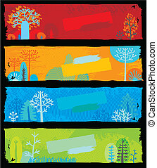 Nature Banners (vector) - Nature Banners (each banner is...