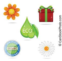 nature, brillant, ensemble, signe, créatif, vert