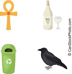 nature, business, ecology and other web icon in cartoon style.wintering, rest, trade, icons in set collection.