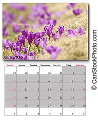 nature calendar april