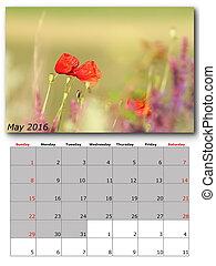 nature calendar may