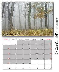 nature calendar november
