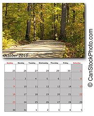 nature calendar october