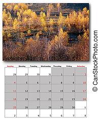 nature calendar september