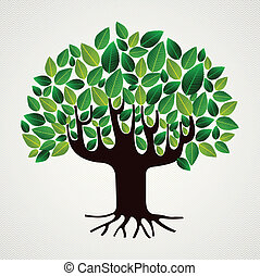 Nature care concept leaves tree