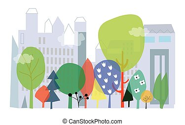nature-city  - City and nature background