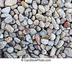 Nature color pebble stone in background texture